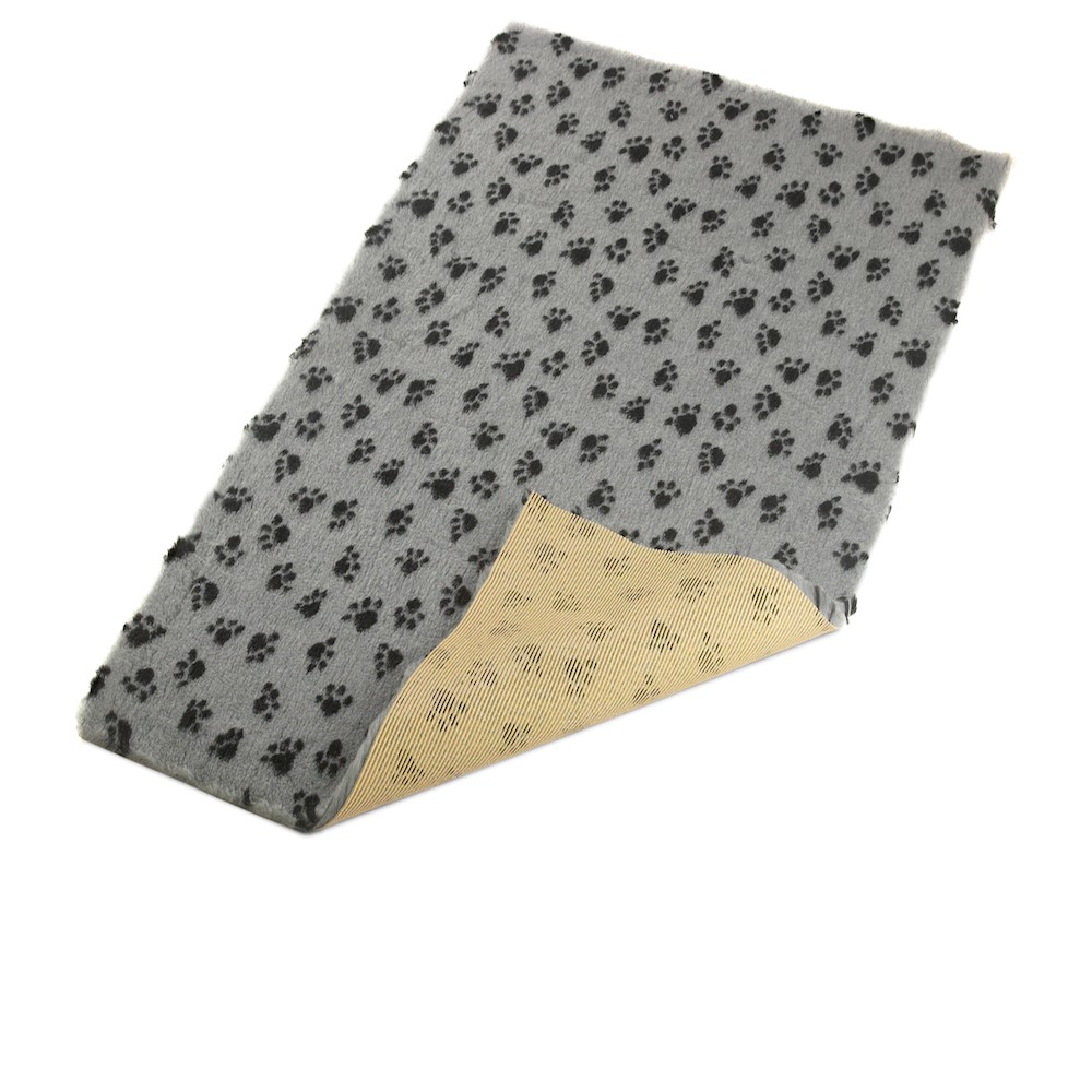 Active Non-Slip Vet Bedding Grey Paws