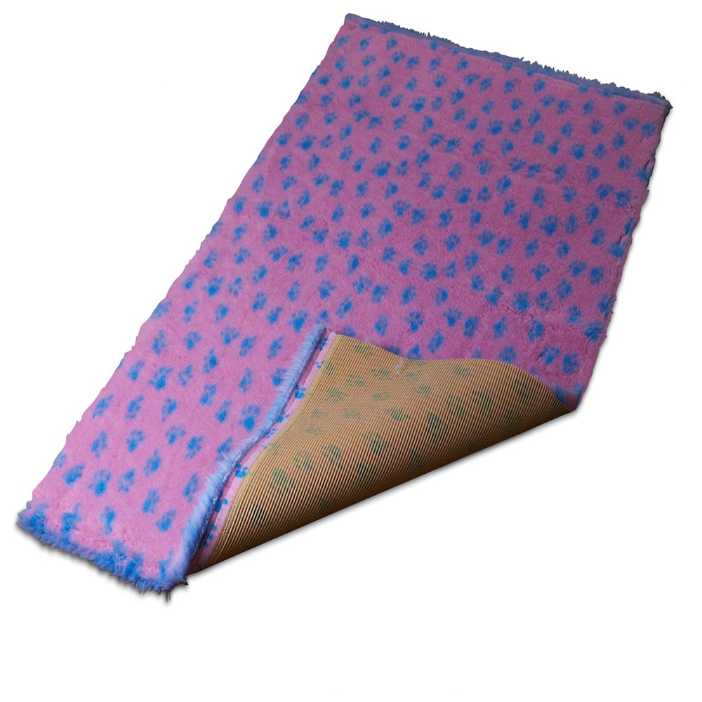 Active Non-Slip Vet Bedding Pink Paws