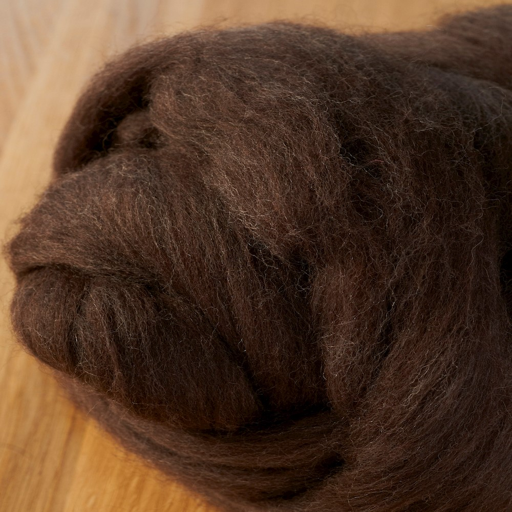 64's Merino wool for felting - Mocha