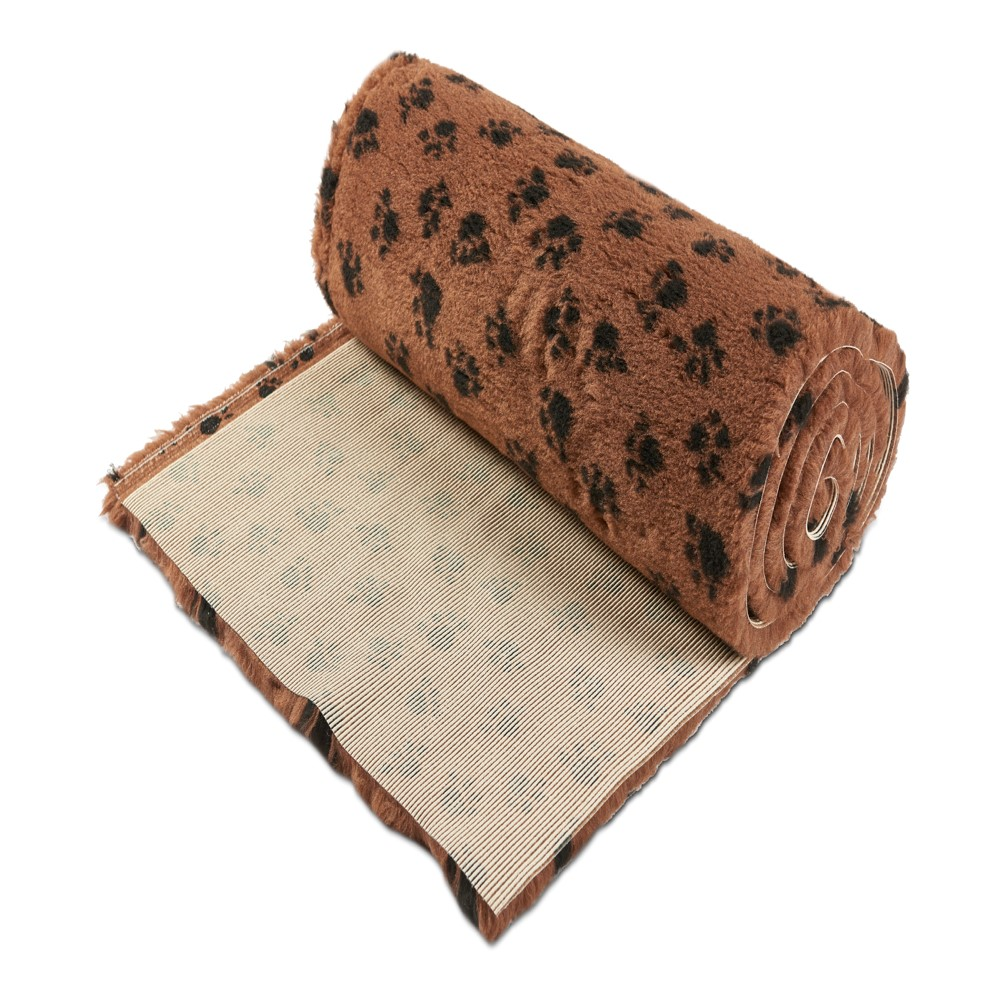 Active Non-Slip Vet Bedding Brown Paws