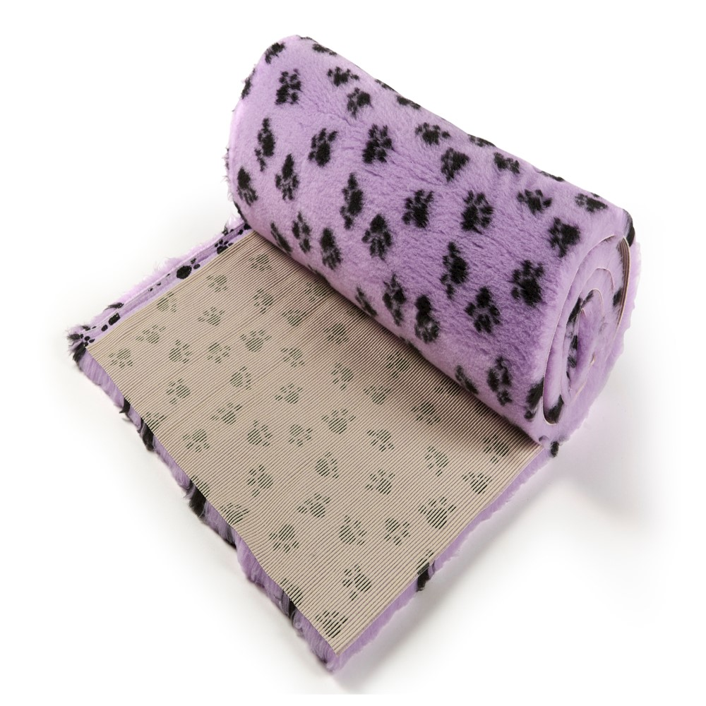 Active Non-Slip Vet Bedding Lilac Paws