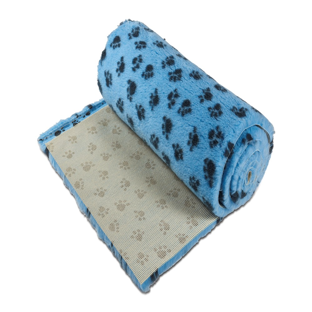 Active Non-Slip Vet Bedding Sky Blue Paws