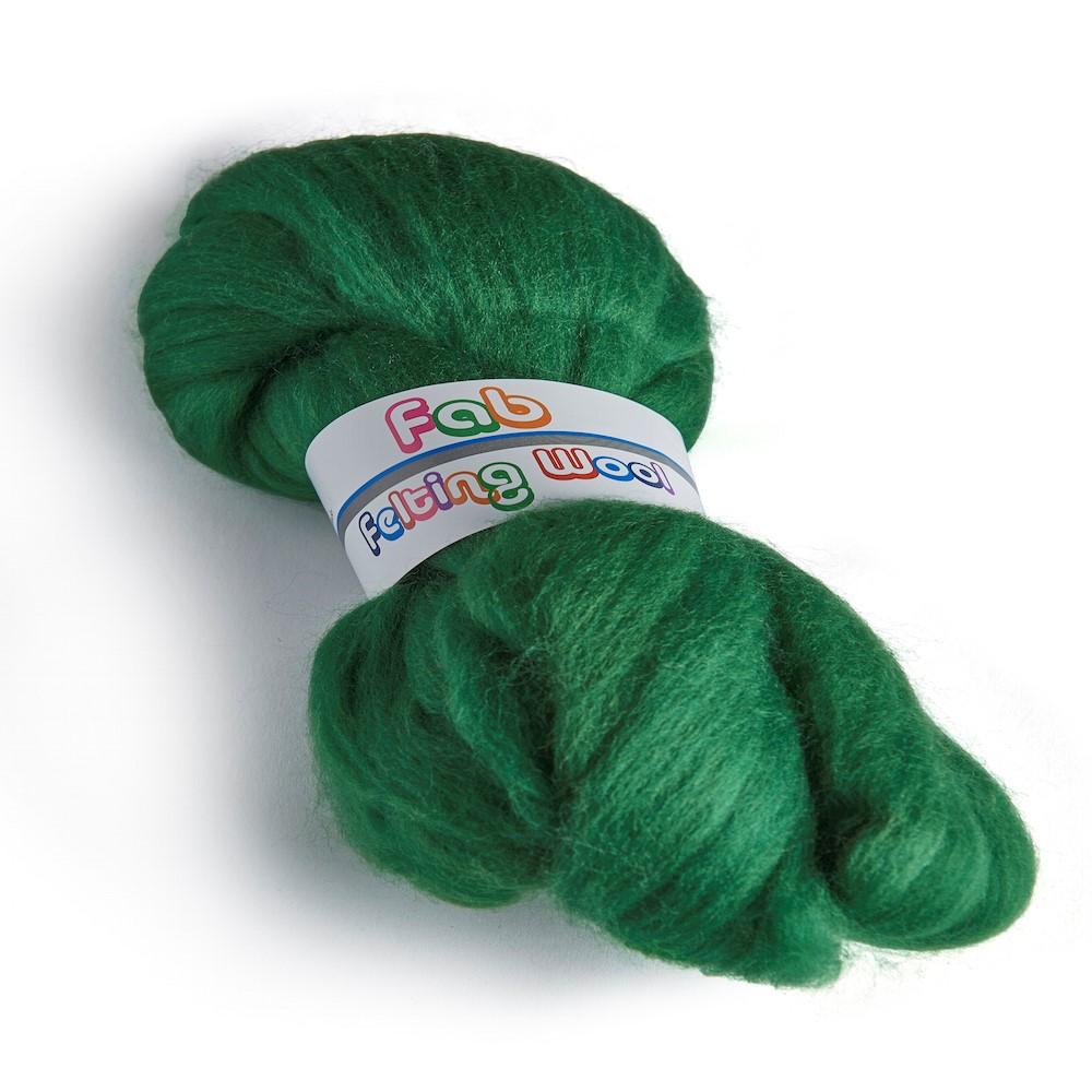 64's Merino wool for felting - Forest