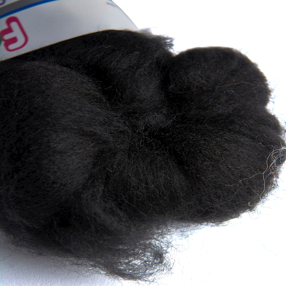64's Merino wool for felting - Raven