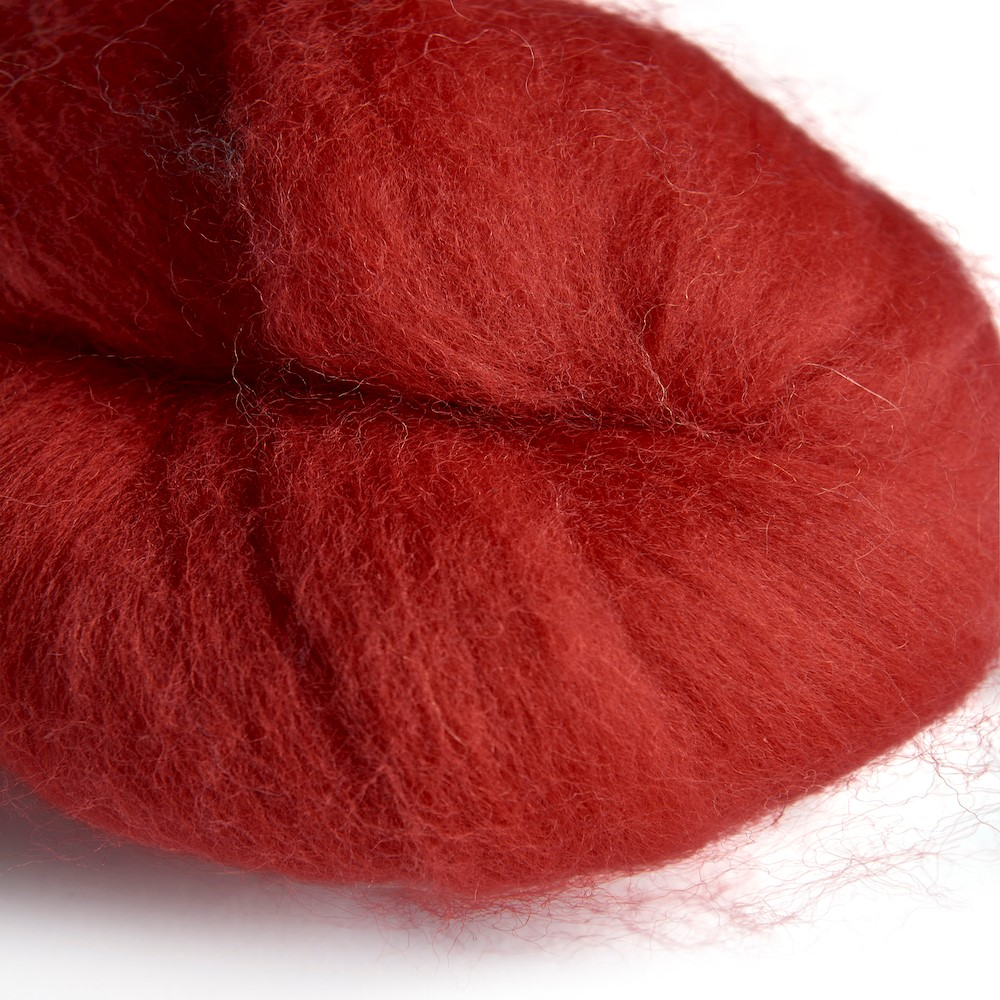 Merino wool 64's scarlet