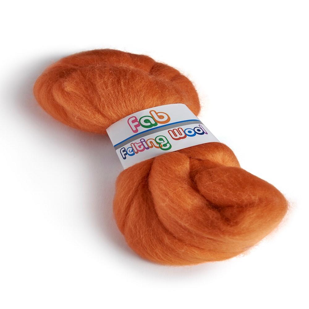 Merino wool 64's Tangerine