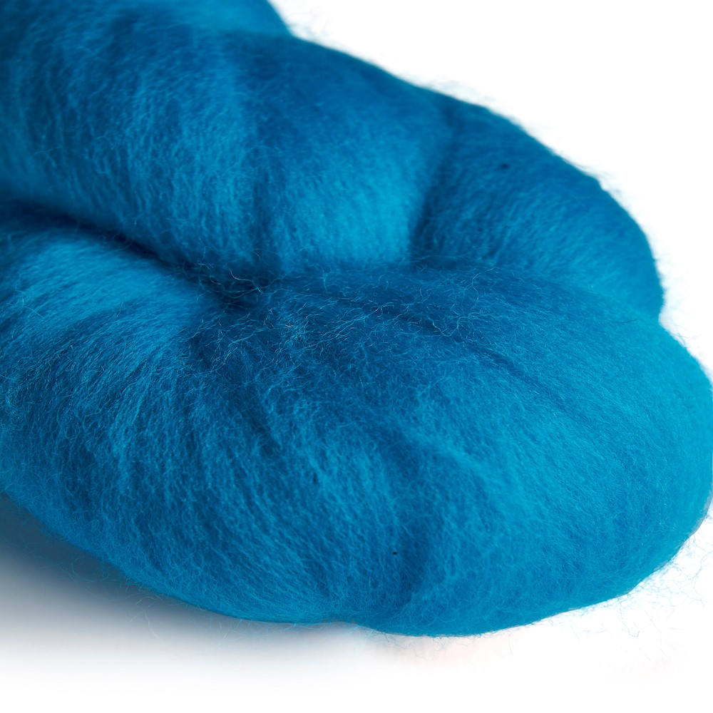 64's Merino wool for felting - Turquoise