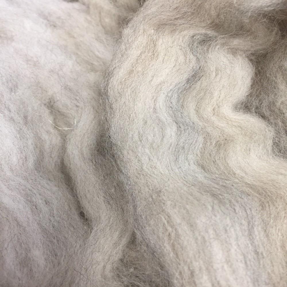 Glistening Beige Wool Blend