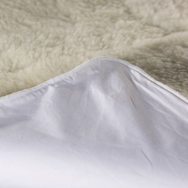 Luxurious Natural Merino Wool Mattress Bed Topper Reversible