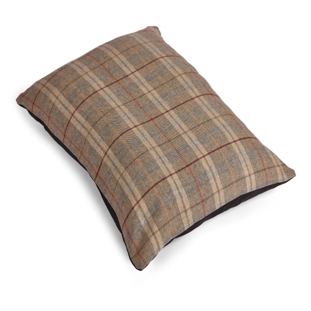 Tweed Wool Mattress Dog Bed - Grey