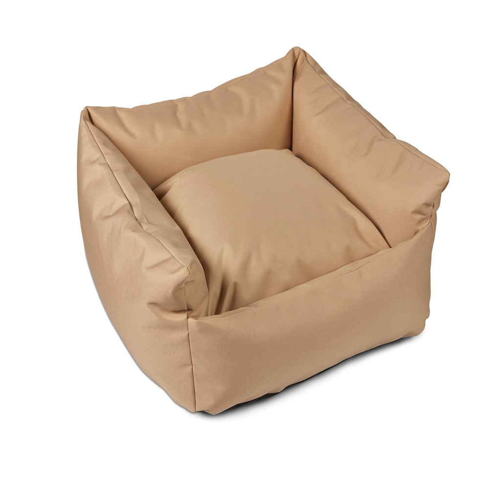 Trojan Cosy Waterproof Dog Bed - Sand