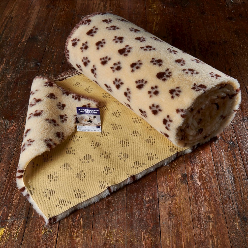 Active Non-Slip Vet Bedding Wheat Paws