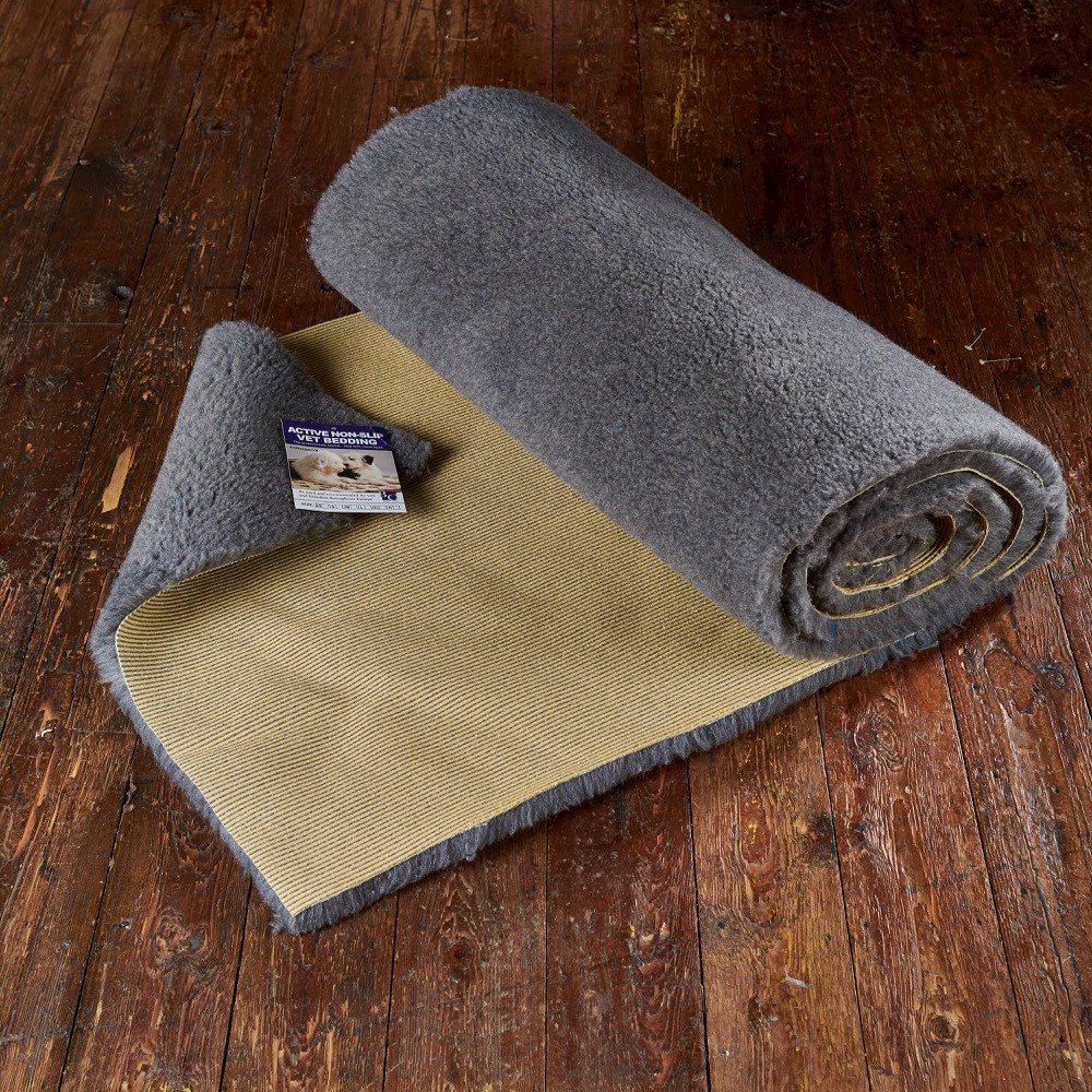 Active Non-Slip Vet Bedding Grey Plain