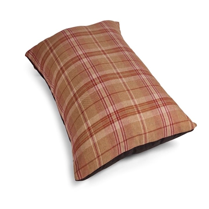 Country Classic Tweed Dog Bed - Mattress - Red