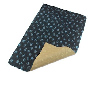Active Non-Slip Vet Bedding Navy Blue Paws