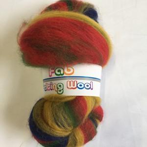 Blended Merino wool 64's- Crimson Rosella