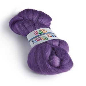 64's Merino wool for felting - Amethyst