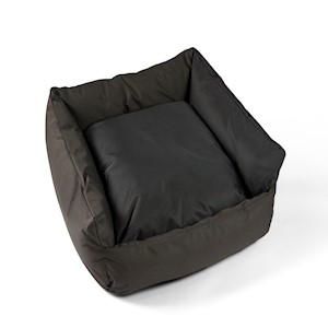 Trojan Cosy Waterproof Dog Bed - Black