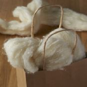 Wool with White Silk Tweed Nepps ready to Spin