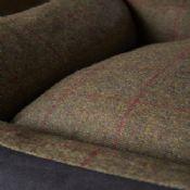 Tweed Wool Cosy Dog Bed - Dark