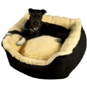 Senior gold cosy dog bed